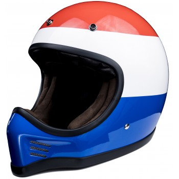 CASQUE CROSS VIKINGAR MX - MÂRKÖ ( Rouge/blanc/bleu)