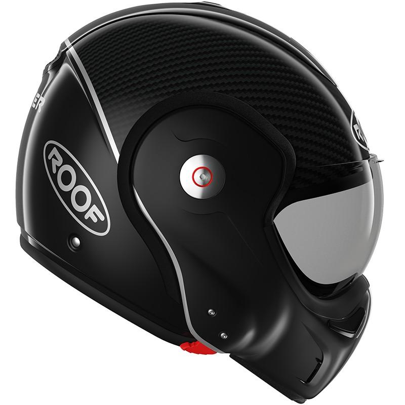 casque moto modulable ro9 boxxer carbon roof rouge. Black Bedroom Furniture Sets. Home Design Ideas