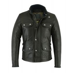 JACKET OF MONTE CARLO LEATHER (Black) - ORIGINAL DRIVER