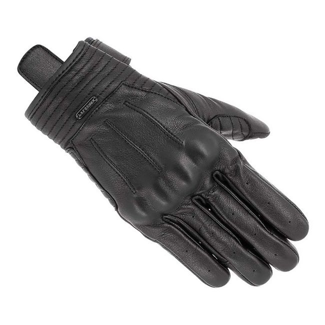 Accessories Mens and Womens Fitted Real Leather Gloves with Spandex Velcro Fastened Driving Touchscreen
