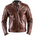 Leather Jacket Helstons TRACK Rag Crust Camel