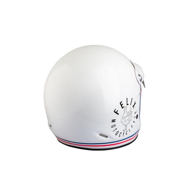 Casque jet vintage ST520 Signature blanc Felix helmet