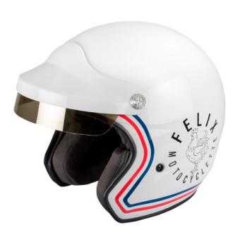 Vintage Jet helmet ST520 Signature Felix white helmet