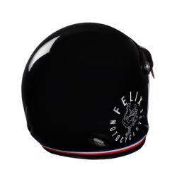 Casque jet vintage ST520 Signature noir Felix helmet