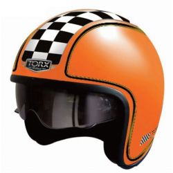 Casque jet HARRY FLAG RACER ORANGE MAT