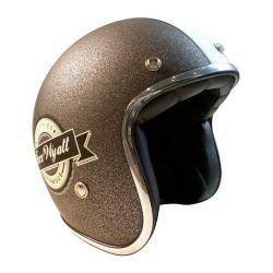 jet helmet Torx WYATT-FAMOUS-MATT-GLITTER Gray