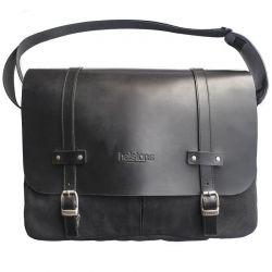 MESSENGER BAG FILE Textiles / Leather-HELSTONS
