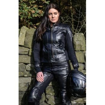 Pantalon RST Ladies Kate cuir été noir femme