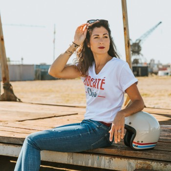 Tshirt Femme WILDUST - Liberté Chérie Col V