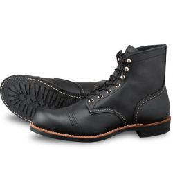 Red Wing sapatos pretos 8114 Iron Ranger