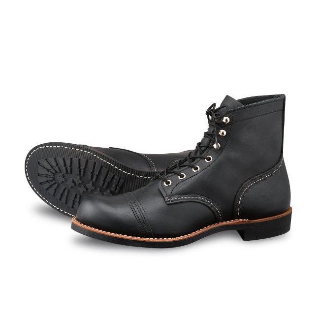Red Wing Shoes Schwarz 8114 Eisen-Ranger