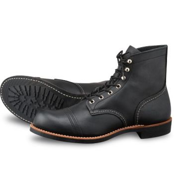Red Wing sapatos pretos 8114 Iron Ranger