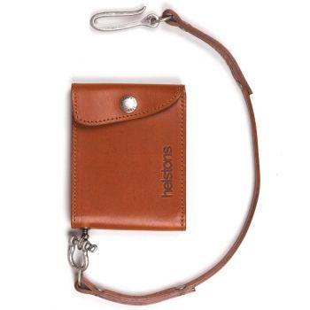 Portefeuille Mini Wallet Cuir + lacet Noir PM-HELSTONS