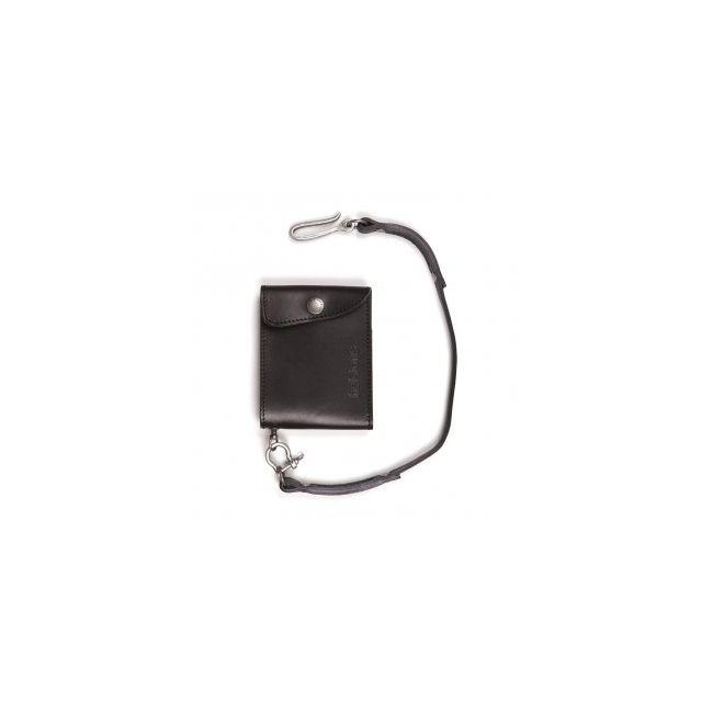 Wallet Mini Wallet Leather + Lace Black PM-HELSTONS