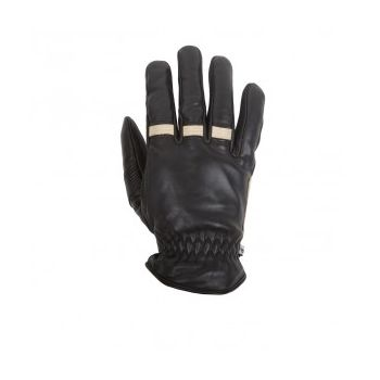 Winter Gloves HELSTONS VELVET Crust Leather-Black Camel