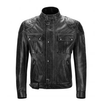 BLOUSON BROOKLANDS CUIR ANTIQUE BLACK-BELSTAFF