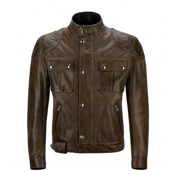 BLOUSON BROOKLANDS CUIR BLACKBROWN-BELSTAFF