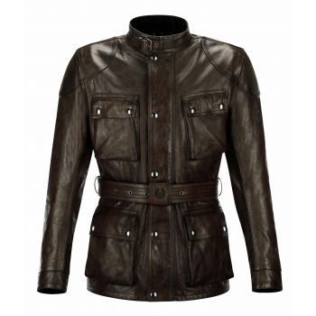 VESTE TRIALMASTER PRO CUIR BLACKBROWN-BELSTAFF