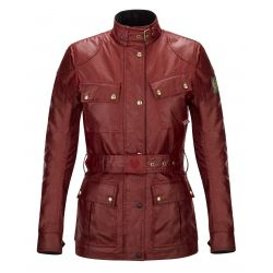 VESTE TRIALMASTER PRO LADY WAX6OZ RACING RED - BELSTAFF