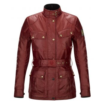 VESTE TRIALMASTER PRO LADY WAX6OZ RACING RED-BELSTAFF