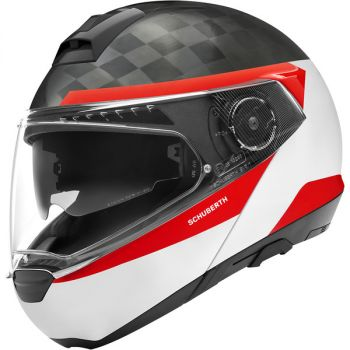 CASQUE C4 PRO CARBON ECE Delta White-SCHUBERTH