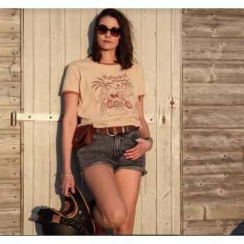 T-SHIRT RINGER RETRO MOTO THERAPY-WILDUST