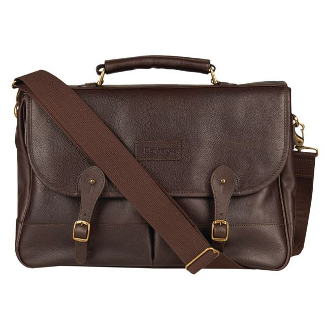 Sacoche Barbour LEATHER BRIEFCASE BAG