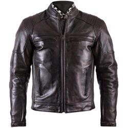 Jacket Helstons TRUST Leather Plain Black