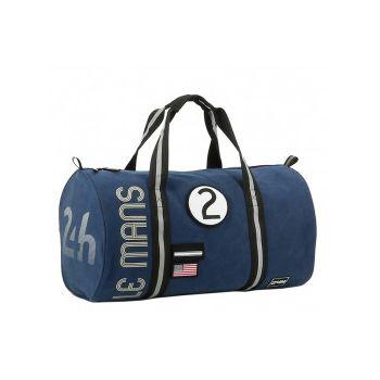 24H Le Mans LEGENDE - Sac forme polochon bleu