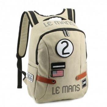 24H Le Mans LEGENDE - Sac à dos coton beige