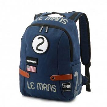 24H Le Mans LEGENDE - Sac à dos coton bleu