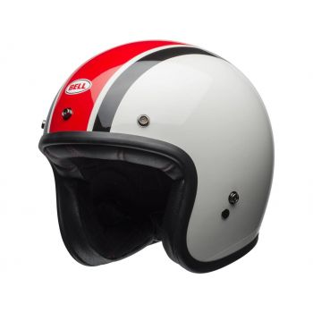 BELL Custom 500 Ace Café Stadium Gloss Argent/Rouge/noir