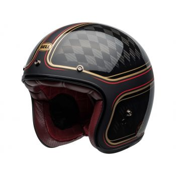 Casque BELL Custom 500 Carbon DLX RSD Checkmate Matte/Gloss Black/Gold