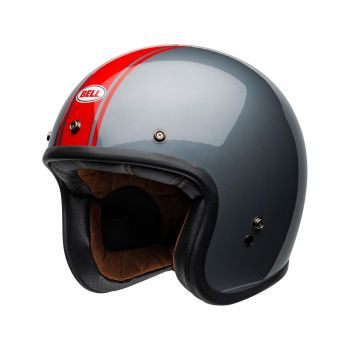 Casque BELL Custom 500 DLX Rally Gloss Gray/Red