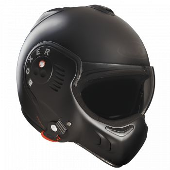 HELM RO5 BOXER V8 FULL BLACK - DACH