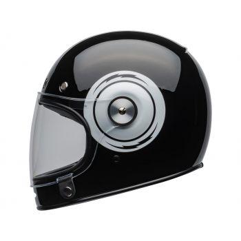 CASQUE BULLITT DLX BOLT GLOSS BLACK/WHITE - BELL