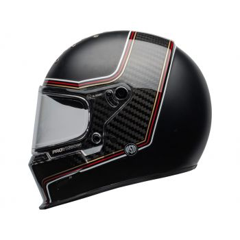 CASQUE ELIMINATOR CARBON RSD THE CHARGE MATTE/GLOSS BLACK - BELL