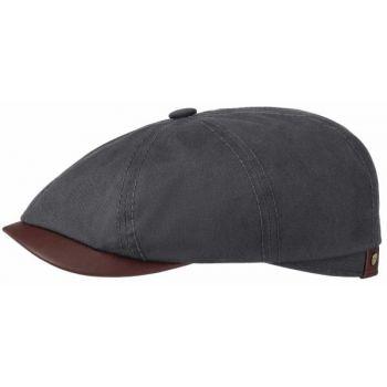 WAXED COTTON-FLAT CAP HATTERAS STETSON