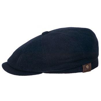WOOL FLAT FLAT CAP HATTERAS STETSON-CACHEMIR