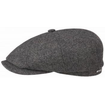 WOOL FLAT CAP HATTERAS STETSON-HERRINGBONE