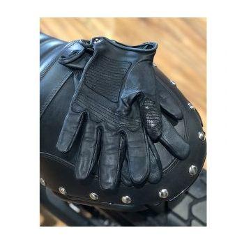 GANTS SHIELD BLACK LEATHER-DMD