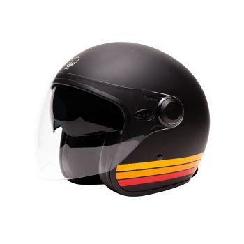 "Helmet Marko BOREAL - Matt Black Orange bands """