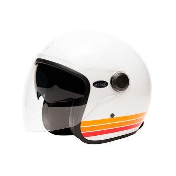 "Marko BOREAL White Helmet Orange bands """