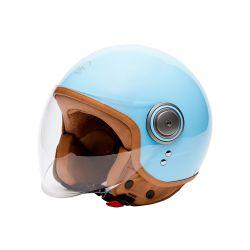 Vintage Motorcycle Helmet Jet ELEMENTS -MÂRKÖ BLUE