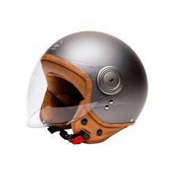 Vintage Motorcycle Helmet Jet ELEMENTS MAT TITAN -MÂRKÖ