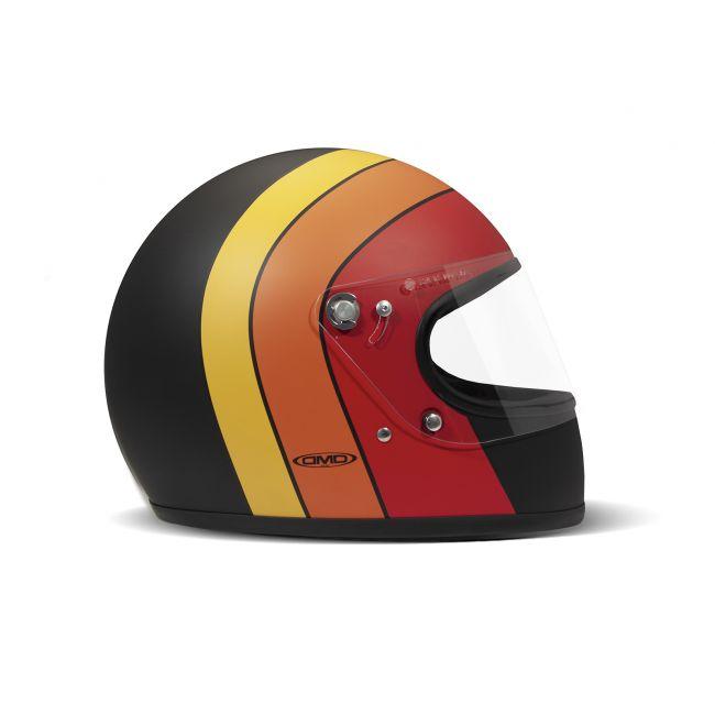 Motocicleta del vintage casco integral ROCKET DMD FUOCO