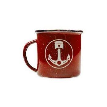 Mug camp Iron and Resin Rouge