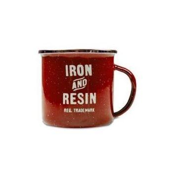 Taza Campo de hierro y resina roja