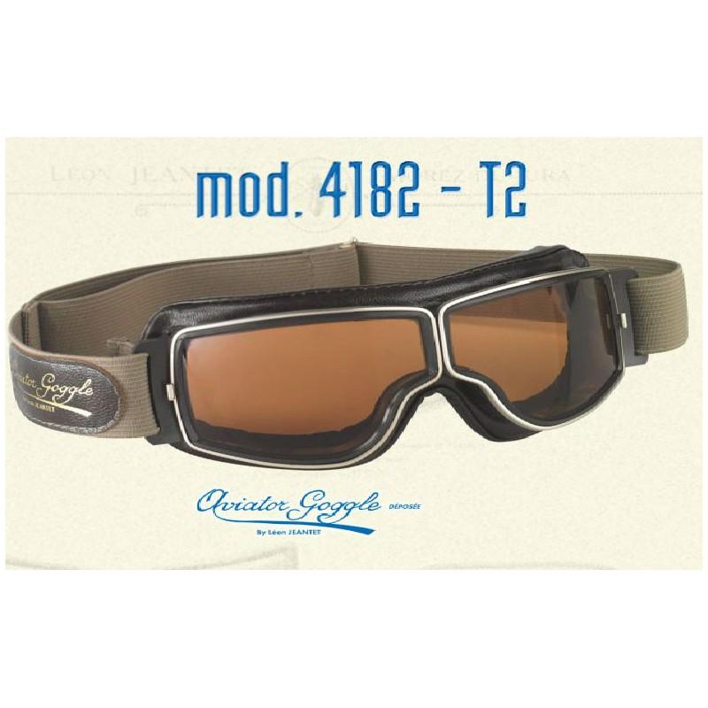 Lunettes Aviator goggle T2, lunetteCasque moto vintage d04492f7b94c