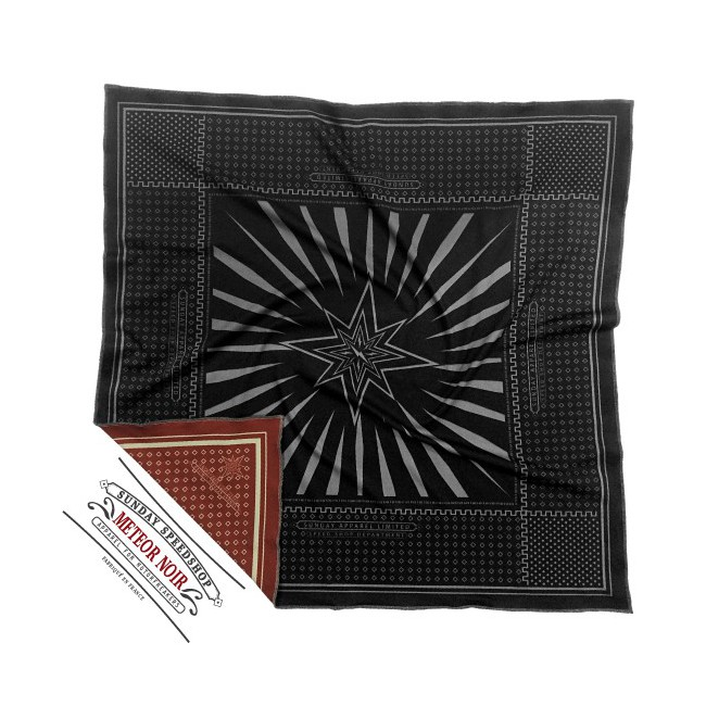 Foulard Sunday Speedshop METEOR NOIR